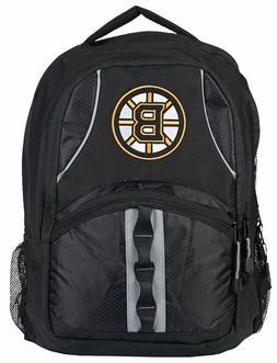 NHL Boston Bruins Captain Backpack, Black/Black, 18.5
