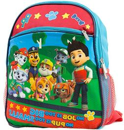 "Nickelodeon Paw Patrol 12"" Toddler Backpack With 8 Paw Patro"