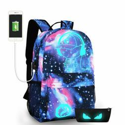 Night Luminous Backpack Anti-Theft Laptop Bag School Shoulde