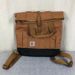 NWOT Carhartt Unisex Brown Canvas Hybrid Backpack Tote Bag