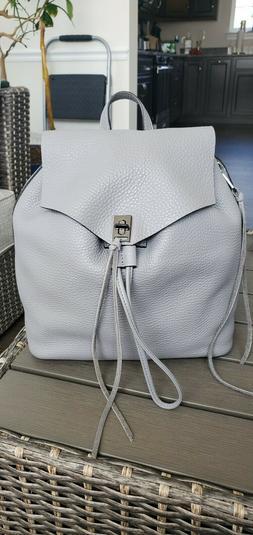 NWT Rebecca Minkoff Darren Backpack in Grey Denim color