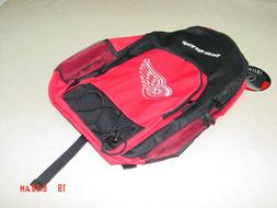 NWT Detroit Red Wings Red Black Backpack Licensed Product NH