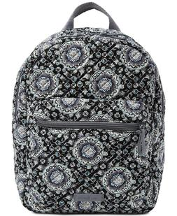 NWT Vera Bradley Iconic Leighton Backpack Charcoal Medallion