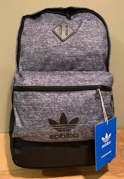 NWT Adidas Originals Base Backpack Gray w/ Black Stripes CK2