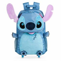 NWT Disney Store Stitch  Rolling Backpack Luggage/Carry-On S