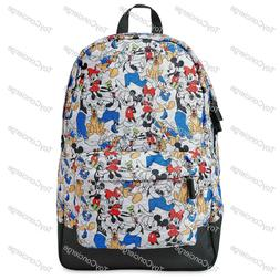 """NWT DISNEY STORE BACKPACK  MICKEY & FRIENDS  18"""" FOR ADULT"""
