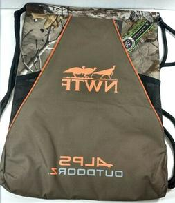 NWTF Alps Outdoorz Drawstring Backpack Bag. Brand New With T