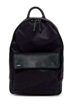 Calvin Klein Nylon Backpack W Pebble PU Trim Black MSRP:$218