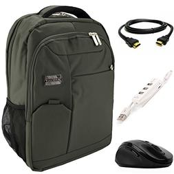 VanGoddy Olive Green Executive Anti-Theft Laptop Backpack w/