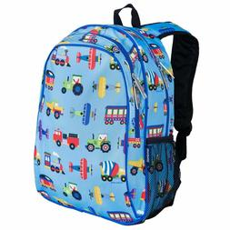Wildkin Olive Kids Trains, Planes & Trucks Sidekick Backpack