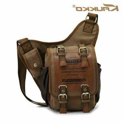 Original Kaukko Canvas Messenger Shoulder Bag Sling Bag Back