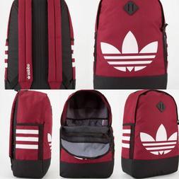 Adidas Originals Trefoil Backpack Burgundy Big Logo White St