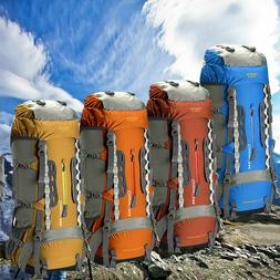 Outdoor 75L +5L Internal Frame Backpack Water resistant Camp