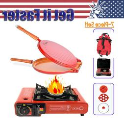 Outdoor Cooking Kit Hiking Backpack Portable Camping Set Pic