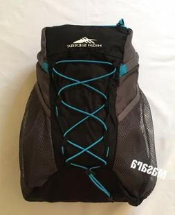 High Sierra Pack-N-Go Backpack Hydration Pockets Black/Blue