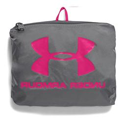 Under Armour Packable Backpack, Graphite /Tropic Pink, One S