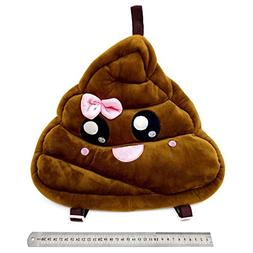 Pink Poop Girl Lady Cute Emoji Pillow Backpack Pajama Pouch