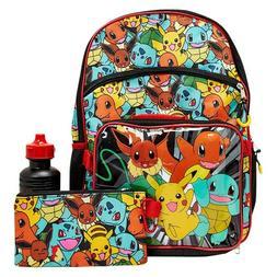 Pokemon Pikachu Boy School Backpack Lunch Box Book Bag Case