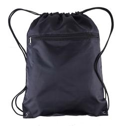 BagzDepot Polyester Drawstring Backpack Bags - 12 Pack - Who