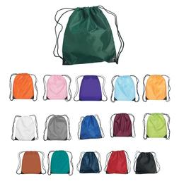 Polyester Drawstring Backpacks Lot Of 100