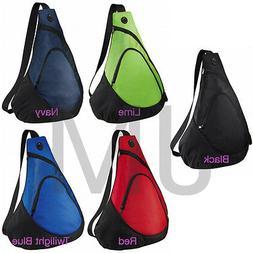Port & Company BG1010 Sling Backpack Travel Shoulder Book Ba