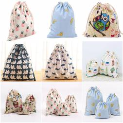 Portable Women Backpacks Print Shopping Bags Drawstring Back