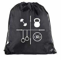 Power Lifting Backpacks, Fitness Drawstring Weightlifting Gy