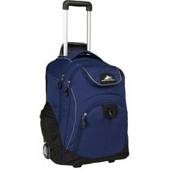 HIGH SIERRA POWERGLIDE WHEELED BOOK BAG NAVY BLUE CARRY-ON R