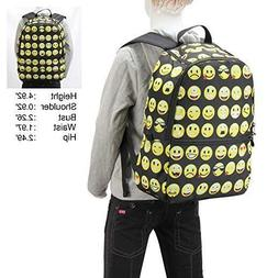 printed emoji kids school backpack free delivery
