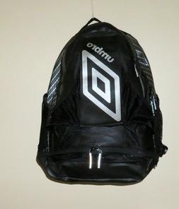 Umbro Pro Soccer Backpack Adjustable Padded Straps Black