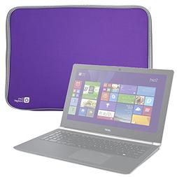 "Purple 18"" Water-Resistant Padded Laptop Sleeve - For Acer A"