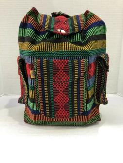 RASTA Bag Beach Hippie Baja Ethnic 3 pockets Backpack Made i