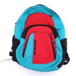 Dakine Red And Turquoise Backpack With Insulated Front Pocke