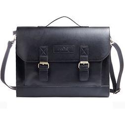JAKAGO Retro Leather Briefcase Satchel Messenger Shoulder Ba