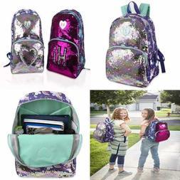 Reversible Glitter Sequin Backpacks For Girls & Women W Padd