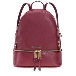 Michael Kors Rhea Medium Leather Backpack - Oxblood 30S5GEZB