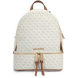 MICHAEL KORS Rhea Medium Logo Vanilla Backpack - 30S7GEZB1B-