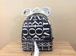 Michael Kors Rhea Zip MK Signature Leather Backpack Black Op