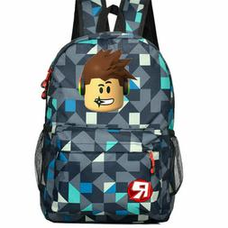 Roblox Backpack Kids School Bag Students Boys Bookbag Handba