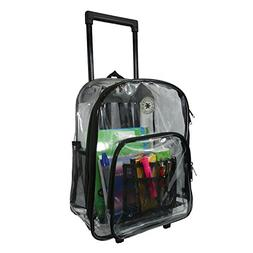Rolling Clear Backpack Heavy Duty See Through Daypack School