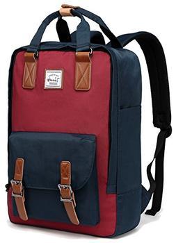 School Backpack,VASCHY Unisex Vintage Water Resistant 15in L