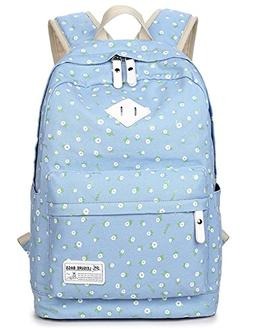 School Bookbags for Girls, Floral Backpack College Bags Ligh