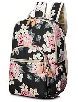 084b9d524891 Leaper Cute Floral School Backpack for G...