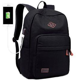 School College Backpack Bookbag 15 inch Laptop Travel Bag wi