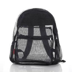 Semi-Transparent Mesh Backpack with Comfort Padded Straps, B
