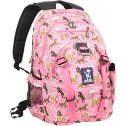 Wildkin Serious Backpack - Horses in Pink