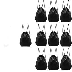 Set10 Nylon Drawstring Backpack Bags Gym Beach Travel Storag
