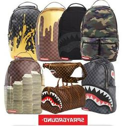 SprayGround Shark Stacks Checkered Drip Duffle Bags - FREE N
