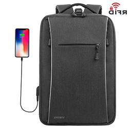 Slim Backpack, Business Laptop Backpacks with USB charging P
