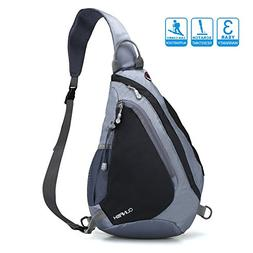 Sling Backpack, Chest Bag CLINFISH Water Resistant Nylon Sho